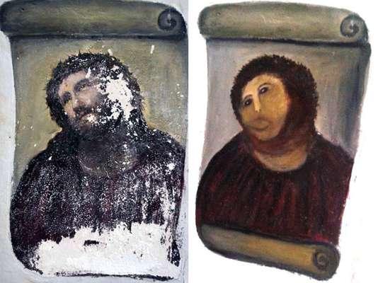 El escándalo de la fallida 'restauración' del 'Ecce Homo' del Santuario de la Misericordia, en la localidad española de Borja, a manos de una anciana ha causado una ola de burlas entre los usuarios de la red que ofrecen sus propias versiones del fresco de 120 años de antigüedad.