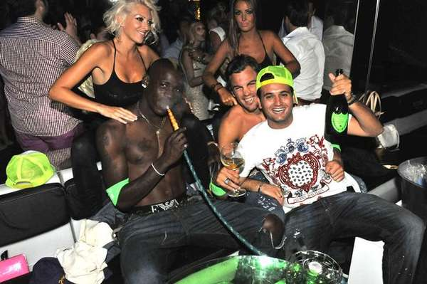 This summer Manchester City striker spent 6 thousand euros during a night out in Ibiza.