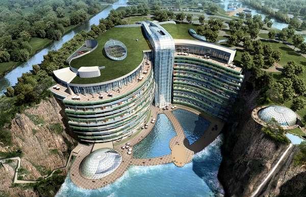 Algumas acomodações são uma atração turística. Esse é o caso do Hotel Songjiang, localizado em Xangai, na China