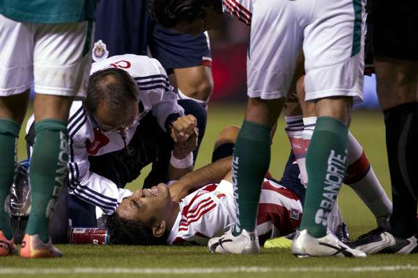 Marco Fabian suffered an injury and have to be subbed out in the first half.