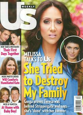 Oh no she di-in't! The war is on between Melissa Gorga and Teresa Giudice. We really don't know many details about this cover story, but ya'll know these women will NEVER be at peace...at least for the sake of ratings.