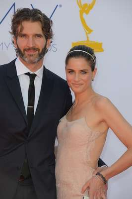 The Primetime Emmys 2012 saw some of the hottest celebrity couples. Amanda Peet and David Benioff were hand in hand!