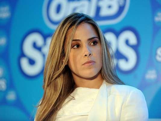 Wanessa Camargo participou de um evento produzido pela Oral-B, em São Paulo, nesta segunda-feira (24) e disse que quer voltar a pesar 49 kg