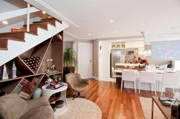 É possível incorporar escada ao projeto arquitetônico e torná-la um lugar de destaque do ambiente
