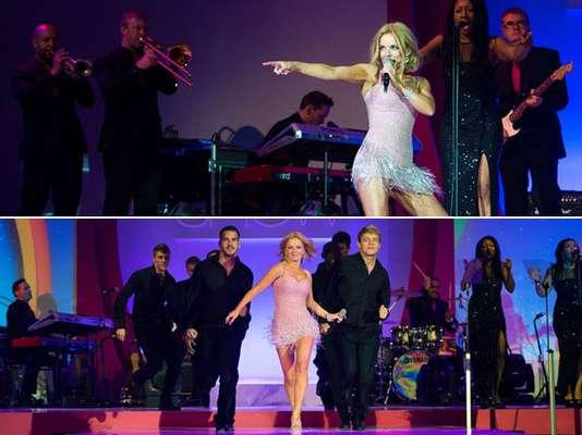 """Una sexy Geri Halliwell revivió el mega hit de Las Spice Girls """"Wannabe"""", en """"The Breast Cancer Care Show"""", realizado en Londres. La estrella, luciendo un corto vestido que dejó poco a la imaginación, por primera vez en siete años, interpretó en un concierto sola, este clásico de la música pop, cambiando por completo el formato original del tema, pues lo hizo en un estilo acústico."""
