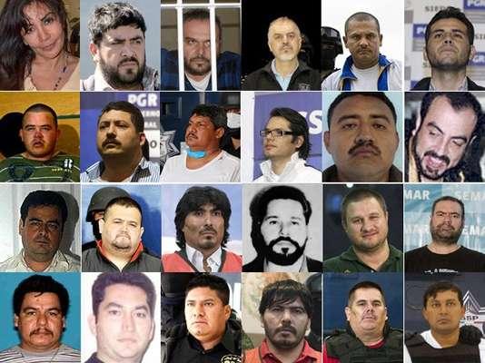 Más de 20 capos del narcotráfico han sido muertos o capturados en México desde 2006, cuando el gobierno inició una ofensiva contra los cárteles con el despliegue de más de 50 mil soldados. A continuación la lista de los principales capos capturados o abatidos durante el sexenio del presidente Felipe Calderón.