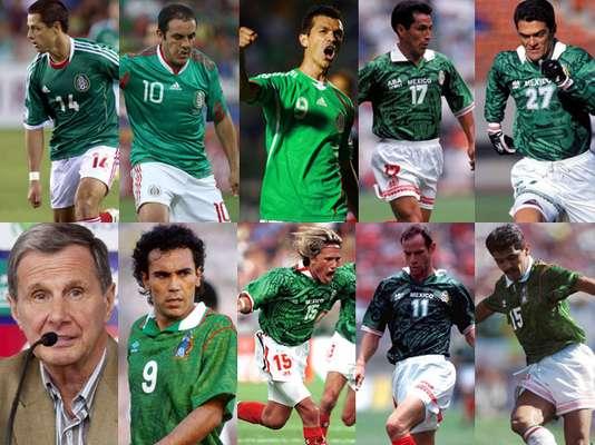 Jugadores de diferentes épocas han figurado como grandes goleadores en la Selección Mexicana de Futbol.