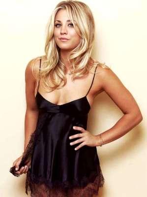 La actriz Kaley Cuoco, estrella de 'The Big Band Theory', apareció sensual en lencería para la revista masculina Esquire.