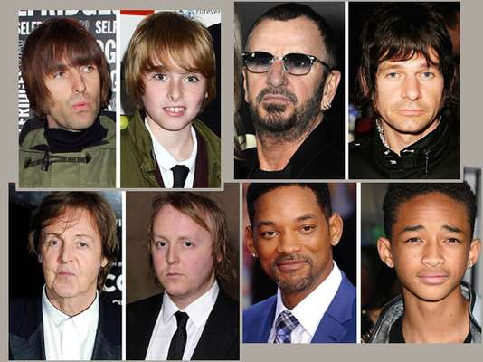 El álbum familiar muestra que algunos famosos son la viva imagen de sus progenitores. Puede que no hayan seguido los pasos de su padre y elegido la misma carrera, pero eso no quiere decir que no sean muy parecidos a sus padres famosos.