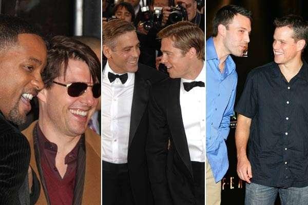 """BROMANCE es el término que resulta de unir las palabras """"brothers"""" y """"romance"""". Es una expresión que se utiliza para definir la relación de cercanía y especial amistad entre dos hombres heterosexuales. Aquí, ¡los bromances más conocidos de Hollywood!!"""