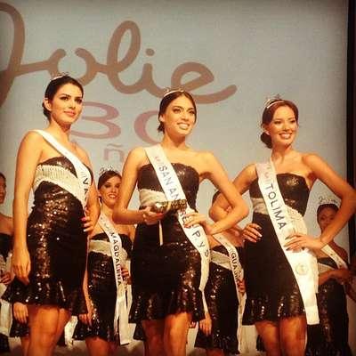 El premio al mejor 'Rostro Jolie' 2012-2013 se lo llevó la Señorita San Andrés. La Señorita Valle fue la segunda finalista y la Señortia Tolima la tercera finalista.