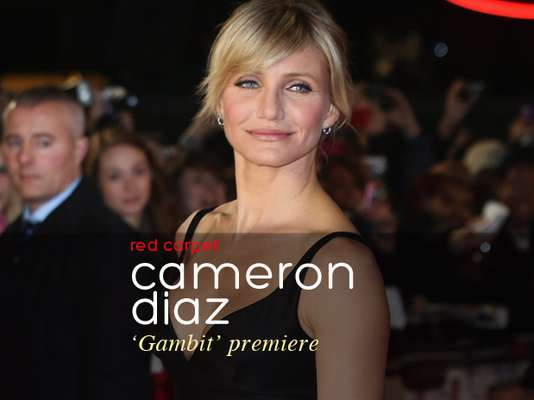 "Cameron Diaz was looking beautiful in a Stella McCartney dress at the ""Gambit"" movie premiere. The world presentation was held at the Empire Leicester Square in London. What did you think of Cameron's ensemble? (Terra USA/Armando Tinoco)"