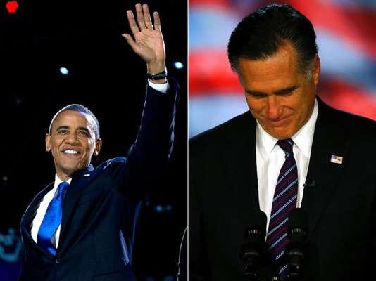 Ganador y perdedor... Los candidatos presidenciales y sus seguidores no pueden ocultar su estado de ánimo tras los resultados electorales de los comicios presidenciales de este 6 de noviembre. Obama le sonríe a un segundo mandato y Romney solamente acepta su derrota. Mira en fotos las diferentes reacciones: