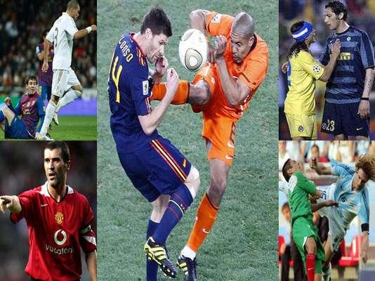De Jong, Materazzi, Keane, Coloccini y, por supuesto, Pepe, son algunos de los jugadores que encabezan esta lista. Conócelos.