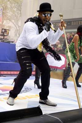 "Flo Rida rocks on NBC's ""Today"" show on Monday, November 19, 2012 in New York."