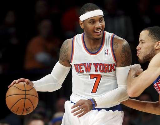 Carmelo Anthony fue una vez más la clave que permitió a los Knicks de Nueva York ganar y en esta ocasión por paliza de 121-100 a los Pistons de Detroit.