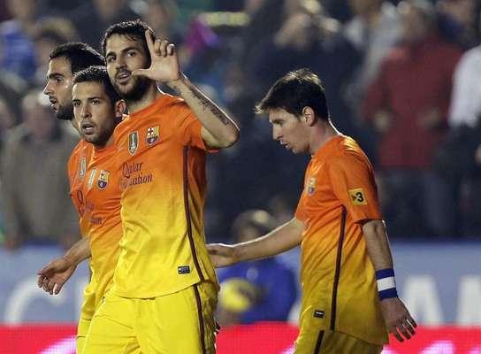 Barcelona, imparable; se impuso 0-4 en casa del Levante.