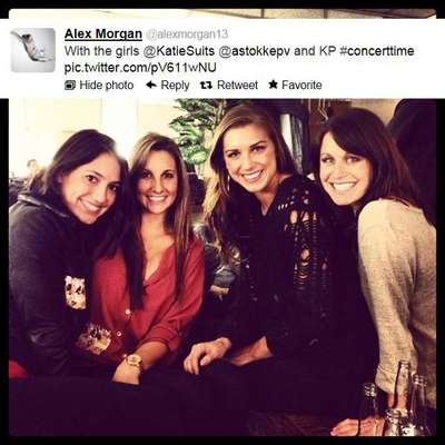 Alex Morgan tweeted this photo of her and her friends on a girls' night out.
