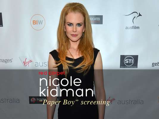 "Nicole Kidman rocked red heels at ""The Paperboy"" screening in Los Angeles."