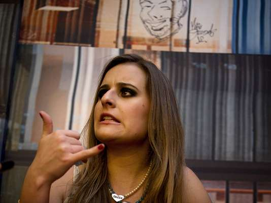 Nessa terça-feira (4), em São Paulo, as participantes da segunda edição do programa Mulheres Ricas, da Band, receberam a imprensa durante uma sessão de fotos. Aeileen Varejão aceitou o convite para participar do Mulheres Ricas pensando em sua carreira artística