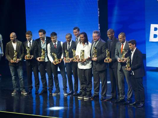Fluminense e Atlético-MG dominaram a festa do Prêmio Craque do Brasileirão 2012, realizada na noite desta segunda-feira, em São Paulo