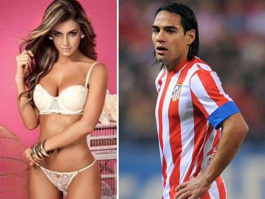Radamel Falcao was linked to the Ecuadorian model, Natalia Vélez for the British paper the Sun.