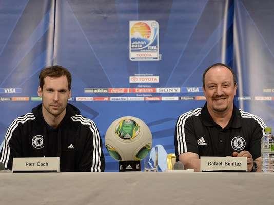 Cech e Rafa Benítez conversaram com a imprensa nesta segunda-feira