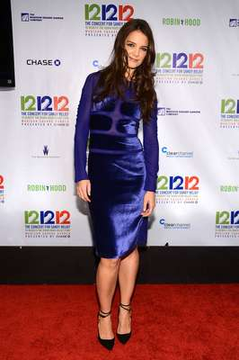 Katie Holmes was shinning at the 12-12-12 Concert for Sandy Relief.