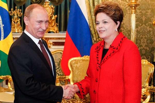 Dilma se encontrou nesta sexta-feira com o presidente da Federação Russa, Vladimir Putin