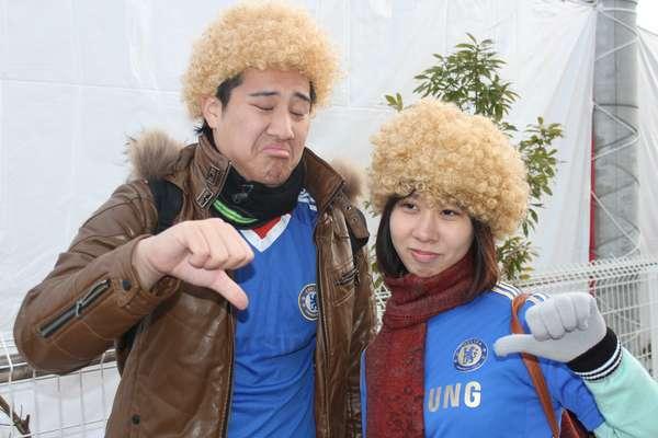 Em preparação para a final do Mundial, contra o Corinthians, o Chelsea fez mais um treino secreto nesta sexta-feira e decepcionou os torcedores japoneses, principalmente um casal fã de David Luiz