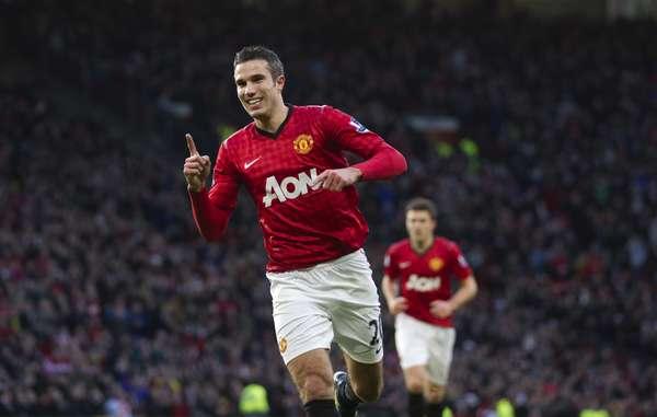 Com um gol e uma assistência, Robin van Persie foi o destaque da vitória do Manchester United sobre o Sunderland, em Old Trafford, por 3 a 1
