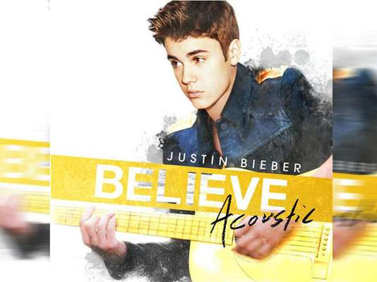 DECEMBER 21 - Justin Bieber revealed the cover to the acoustic version of his hit album 'Believe' on Twitter. 'Believe Acoustic' will be released in January and rumor has it British singer-songwriter Ed Sheeran is working with Bieber on this album.