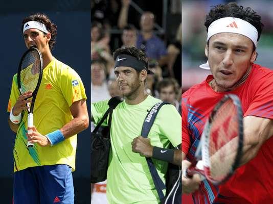 Los argentinos Juan Martín del Potro, Juan Mónaco, y el brasileño Thomaz Bellucci han sido las mejores raquetas latinas del año 2012, dentro de la clasificación individual de la ATP, sumando nueve títulos en total, y situándose para la próxima temporada con expectativas en un circuito marcado por la hegemonía del serbio Novak Djokovic.