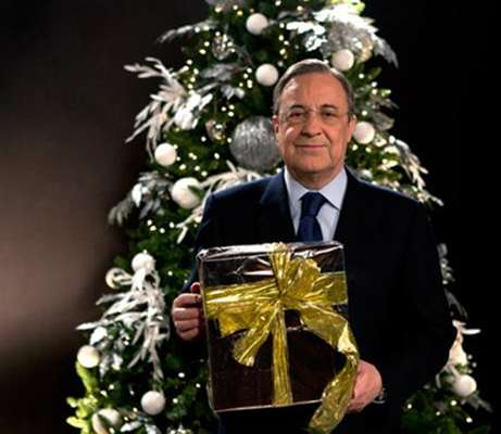 El Presidente del Real Madrid Florentino Pérez manda un saludo de prosperidad en las fiestas decembrinas