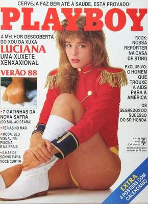 Luciana Vendramini posou virgem para a 'Playboy' em dezembro 1987. Na época ela tinha 17 anos e era paquita da Xuxa