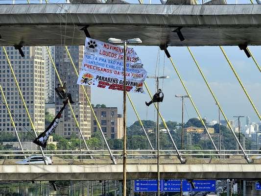 Os amigos Papy, Seg e Ursão (como são conhecidos no bairro do Capão Redondo) começaram a protestar em novembro, quando os números da violência em São Paulo dominavam o noticiário nacional