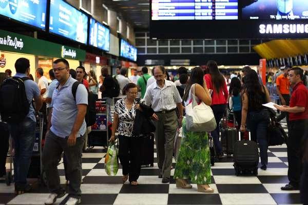 Movimentação no aeroporto de Congonhas, em São Paulo