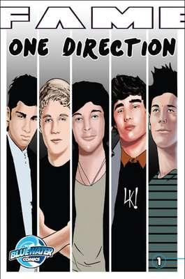 Blue Water Productions echa mano de la creatividad y lleva a las principales estrellas del pop al mundo del cómic, como la popular banda One Direction, que ya figura en uno de los números que seguramente las fans buscarán para tenerlo en su colección.