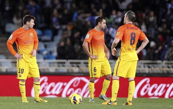 Barcelona perdeu por 3 a 2 para a Real Sociedad; foi a primeira derrota do time no Campeonato Espanhol
