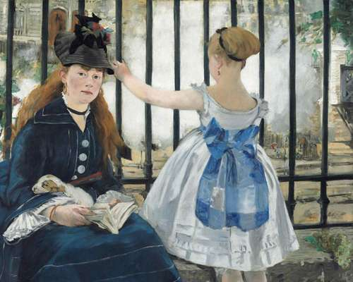 A Royal Academy of Arts apresenta a primeira grande exposição na Grã-Bretanha dos retratos do artista francês Edouard Manet. Entre eles, está 'A Ferrovia', de 1873, mostrado acima