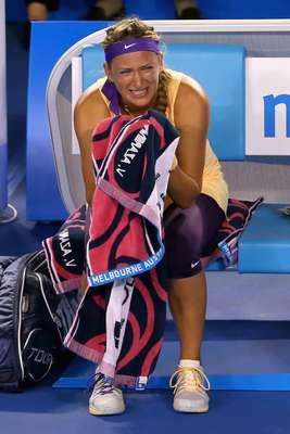 Te presentamos las imágenes que no pudiste ver del festejo de Victoria Azarenka al ganar su segundo título consecutivo en el Abierto de Australia.