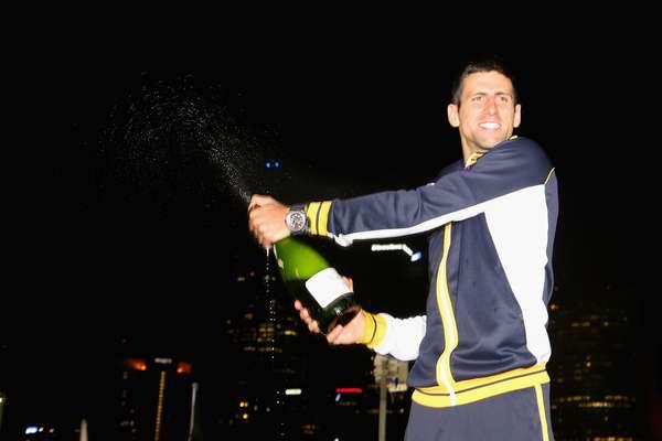 Novak Djokovic se mostró muy feliz luego de conseguir el título del Abierto de Australia.