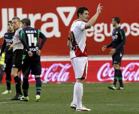 Piti marcó de penalti a los tres minutos de partido.