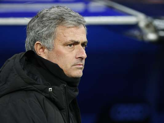 Real Madrid's coach Jose Mourinho waits for the start of the game.