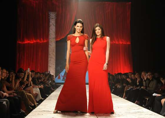 This year's Heart Truth fashion show was a feast for the eyes! Held at the Hammerstein Ballroom on February 6, 2013 in New York City gathered hot celebrities in red dresses to raise awareness for heart disease. Kendall and Kylie Jenner walked the catwalk fully embracing their quick moment of fame. Check out other sizzling moments of the show here.