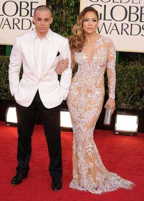 Tras su separación, Jennifer López, de 43 años, parece feliz con el bailarín Casper Smart, de 25.