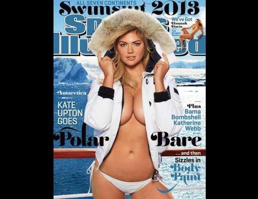 Por segundo año consecutivo, Kate Upton protagoniza la portada de la edición de trajes de baño de la revista 'Sports Illustrated'. Una imagen que fue tomada en medio de la Antártida y con la que la sexy rubia hace alarde de sus voluptuosas curvas y es que a pesar del frío la modelo no tardó en subir la temperatura.