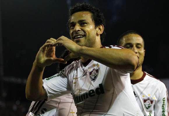 Fred fez o gol decisivo da vitória por 1 a 0 sobre o Caracas, nesta quarta-feira. Foi a estreia dos times no Grupo 8 da Copa Libertadores, que tem ainda Grêmio e Huachipato na disputa