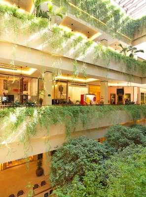 Em São Paulo, alguns shoppings oferecem diferenciais como lojas de grandes marcas, obras de arte nos corredores e paisagismo elaborado, como o Cidade Jardim