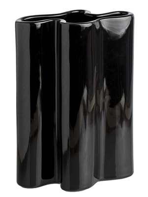 Vaso preto, de 31 cm, da Casa Ambiente e disponível na Mobly. Preço: R$ 204. Informações: 0800-9400327 (capitais) e 4005-1091 (demais regiões)